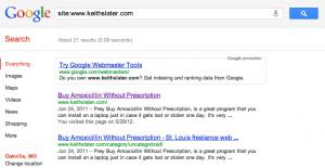 Amoxicillin results from Google