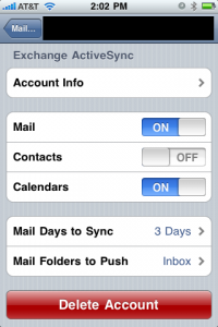 Setup Exchange Account in iPhone