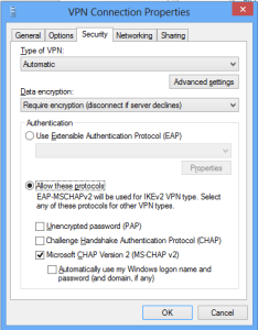 Fixing VPN Error 691 in Windows 8
